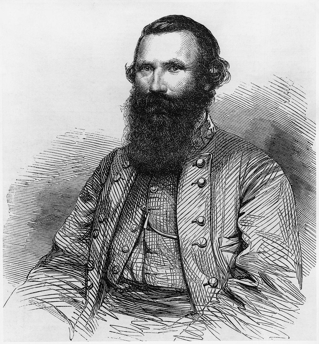 帮丈�yj&9�b���_j.e.b. stuart将军的肖像,邦联军队,插图