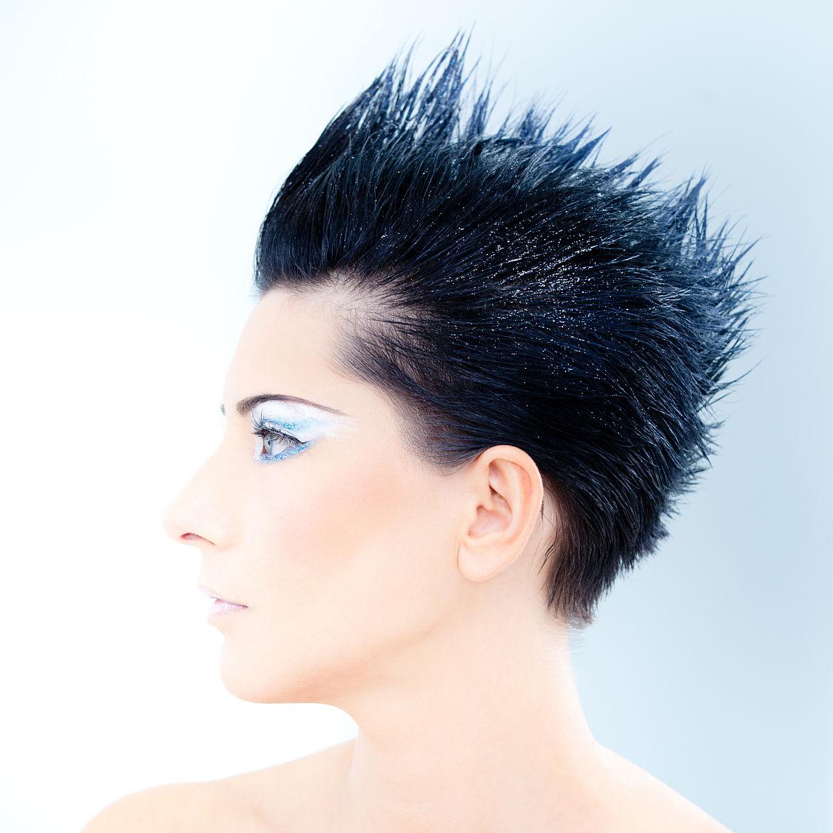 尖尖的发型图片