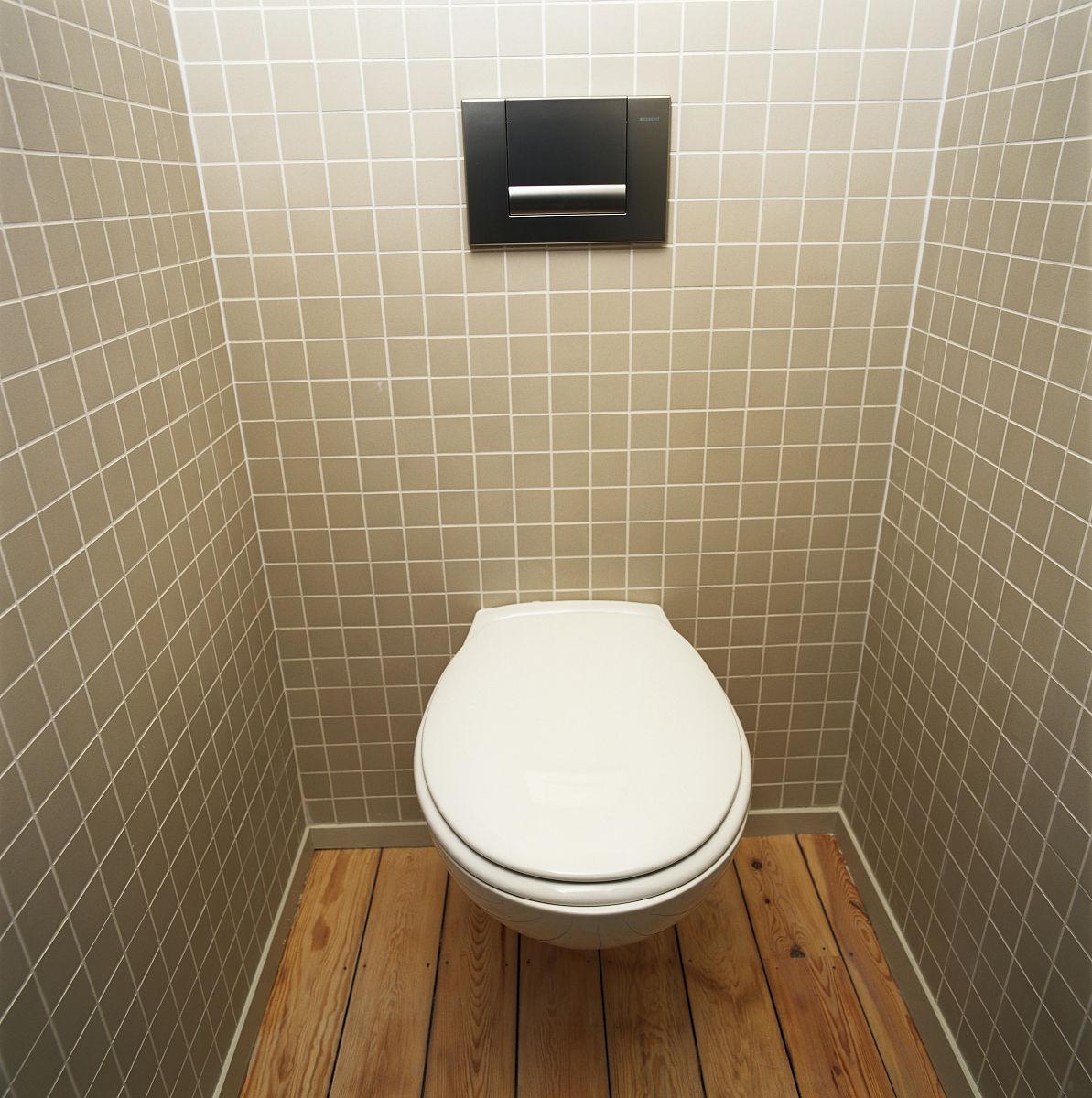公共厕所,高架视图图片