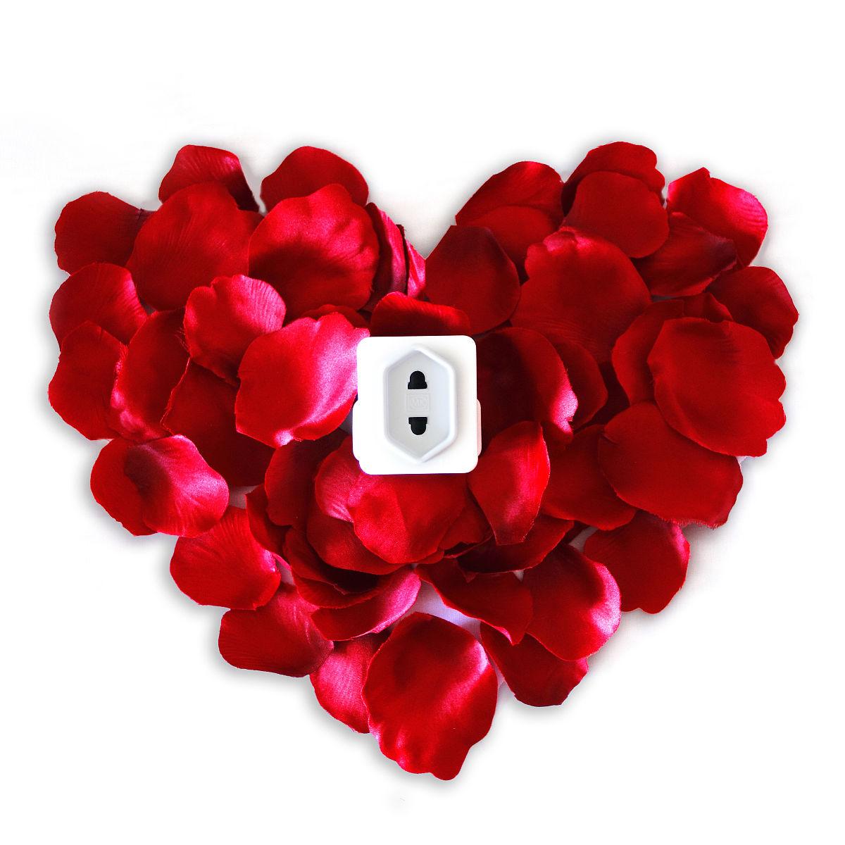 心形玫瑰花瓣图片