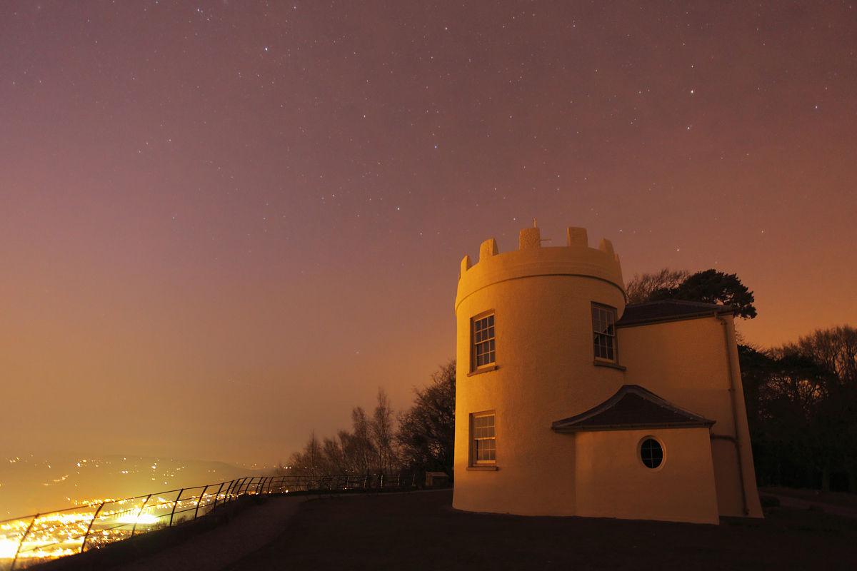 晚上的宴会厅,kymin,monmouth,威尔士,英国