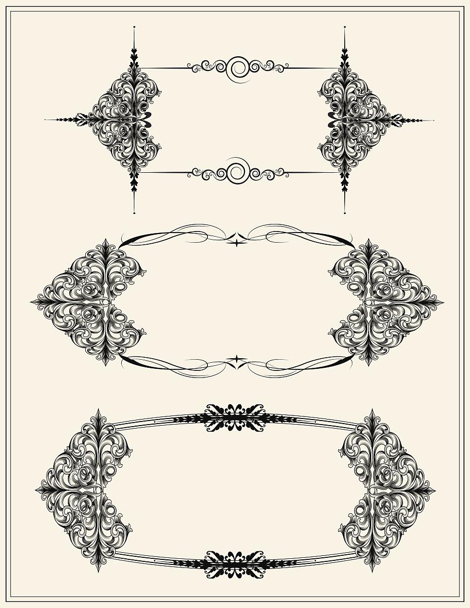 空白的,留白,花纹,无人,矢量,阿拉伯风格,装饰镜板,花形图案装饰,花体图片