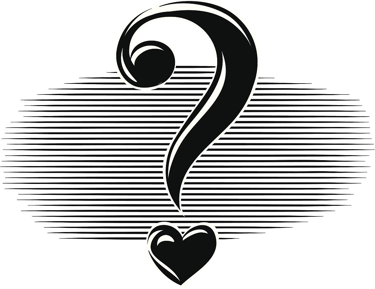 友谊,爱,黑白图片,计算机制图,黑色,白色,正字符号,问号,概念象征图片