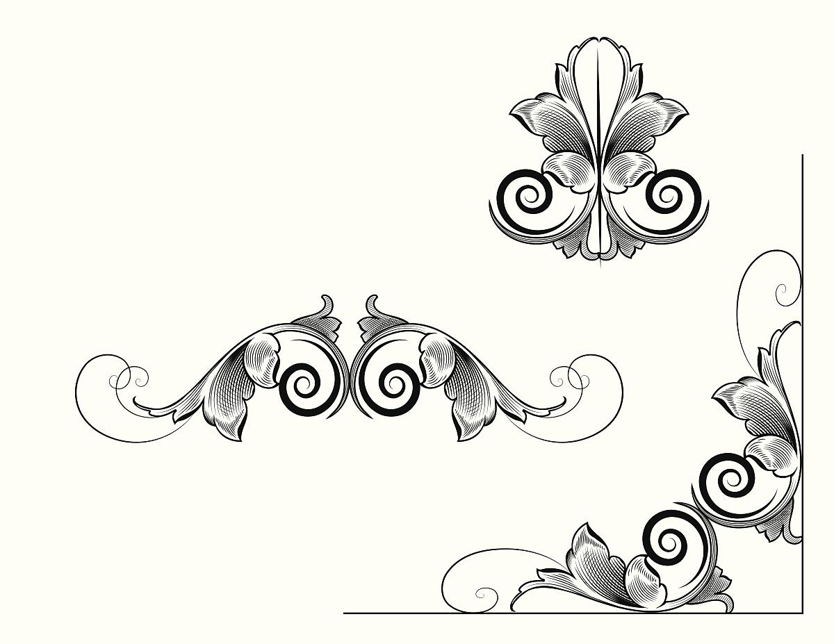 华丽的,雕刻图像,古董,花纹,无人,矢量,阿拉伯风格,装饰镜板,花体图片