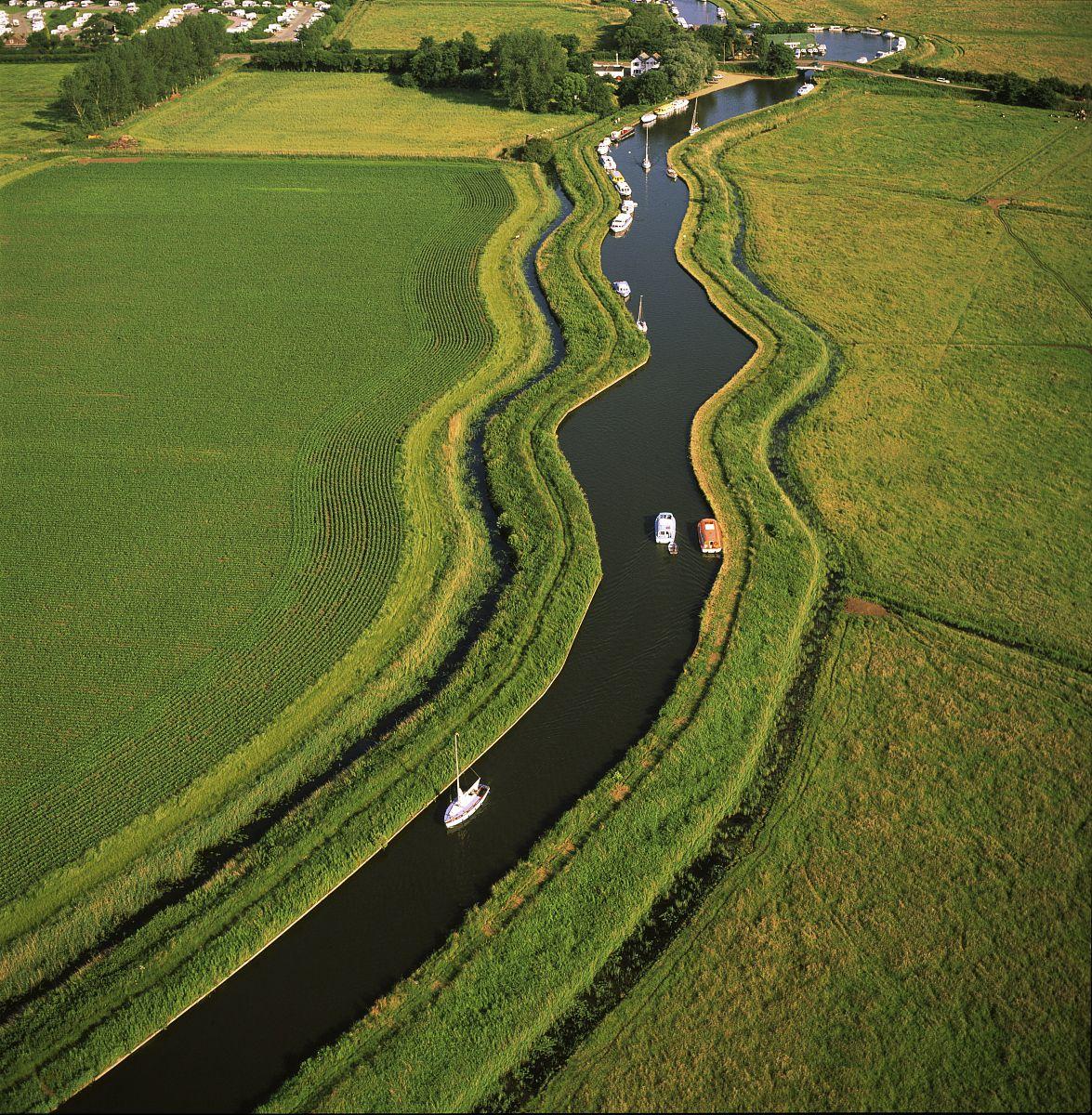 在卢德姆桥,norfolk,英国,英国,诺福克湖区鸟瞰,欧洲