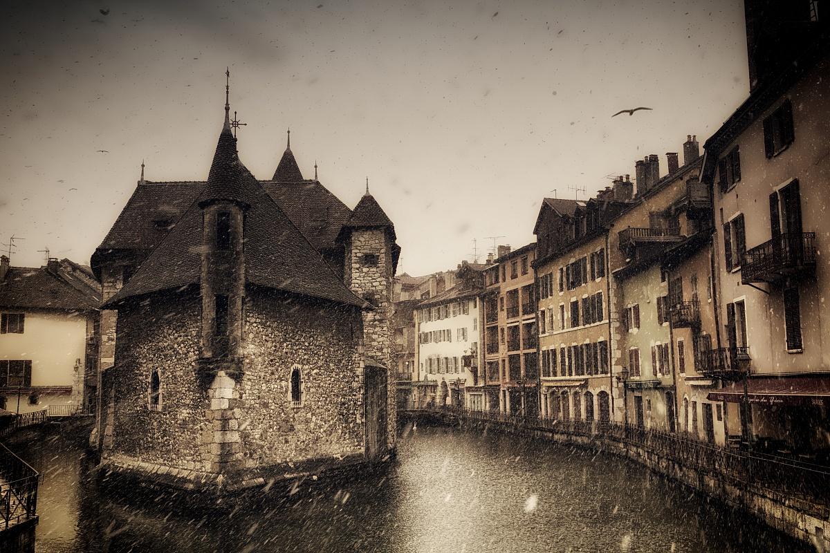 安锡,法国,雪,冬天,欧洲,安锡,欧洲,法国,图像图片