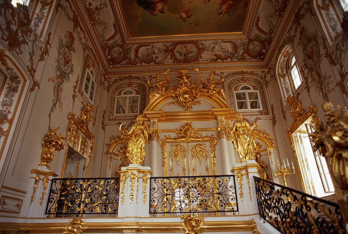 俄罗斯,圣彼得堡,夏宫宫殿内部图片