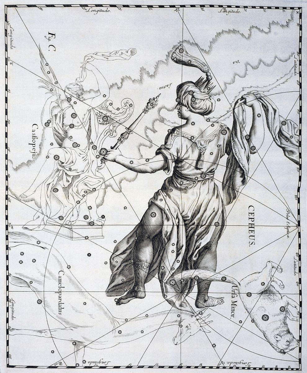 王䲹a��!n���[��X�_cepheus,埃塞俄比亚北方的星座或仙女座的父亲王,说明从johann