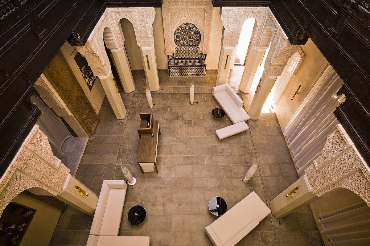 摩洛哥,fes,酒店里亚德fes,休息室图片