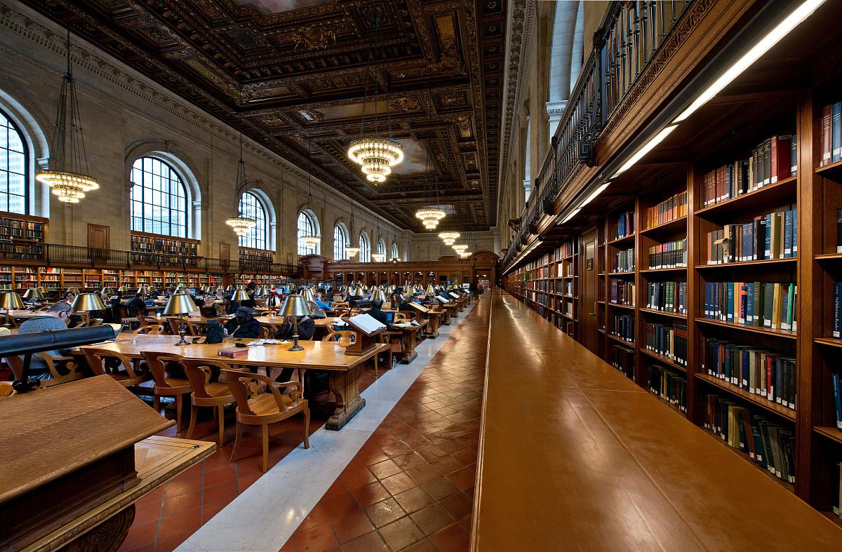 馆_曼哈顿,纽约公共图书馆,,内部,美国