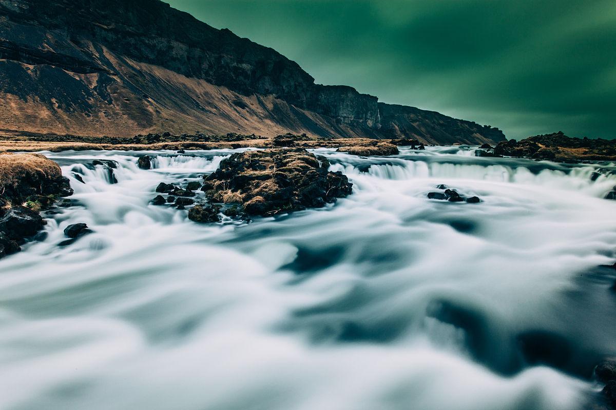 自然,白昼,运动模糊,水彩画颜料,行动,长时间曝光,流动,洛矶山脉图片