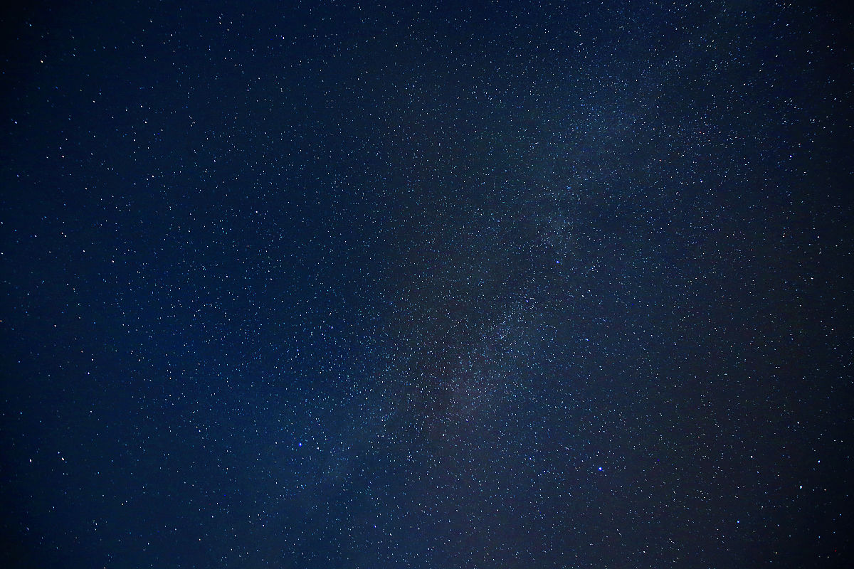 夜晚璀璨的星空图片