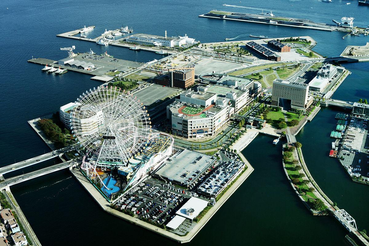 城市海岛鸟瞰图图片