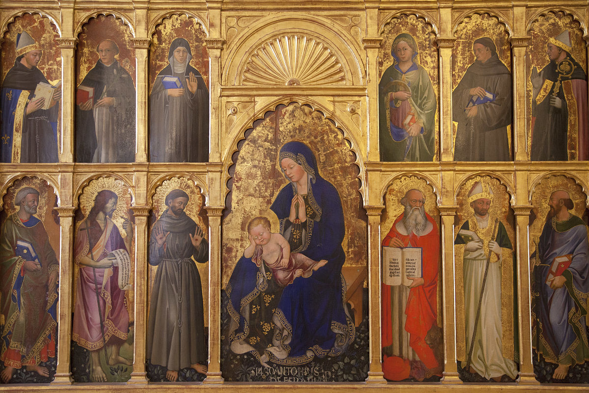 宗教图标在公爵的宫殿,urbino(联合国教科文组织世界遗产),马尔凯图片