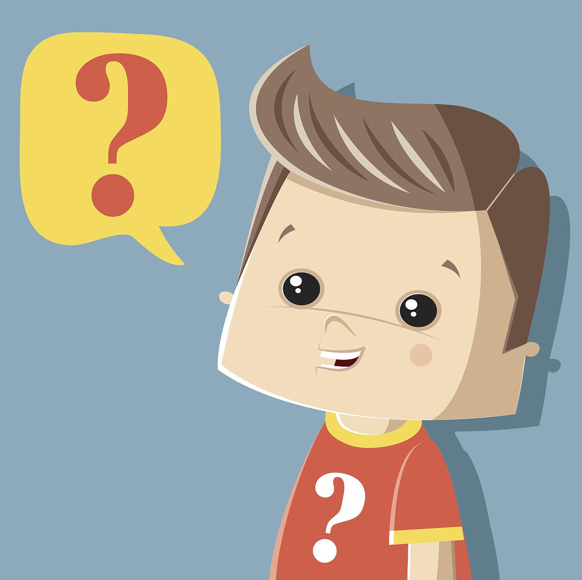 问小男孩图片