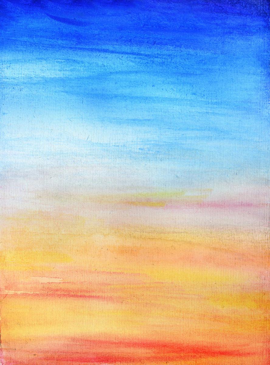 粗糙纸上手绘的天空图片