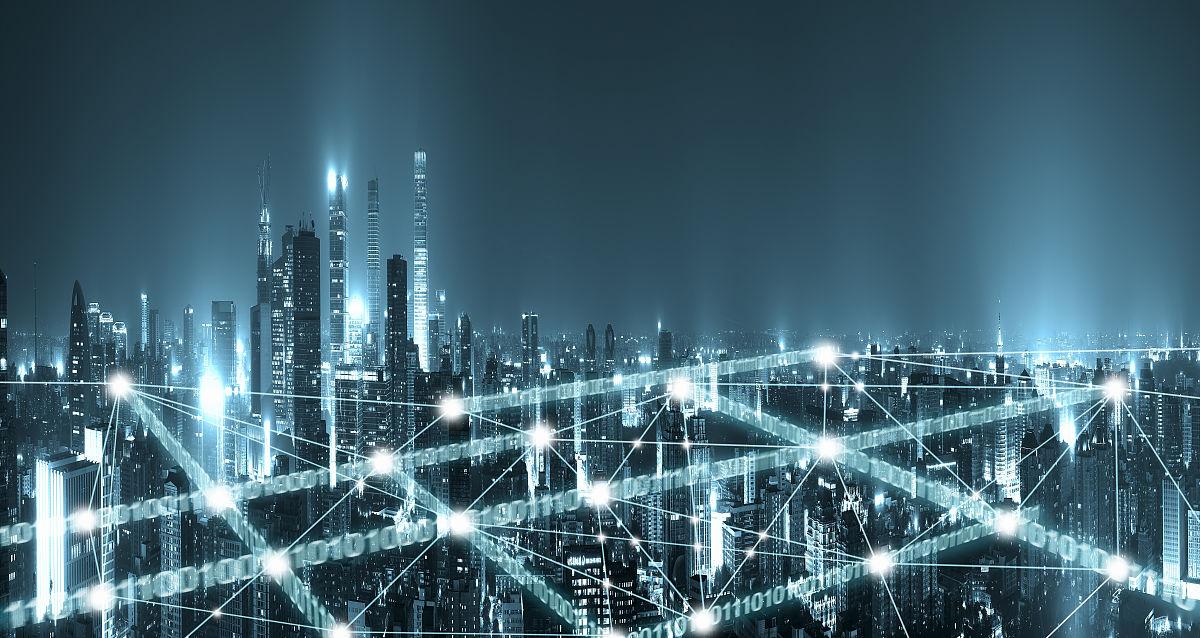 科技互聯大數據概念的北京cbd全景圖片