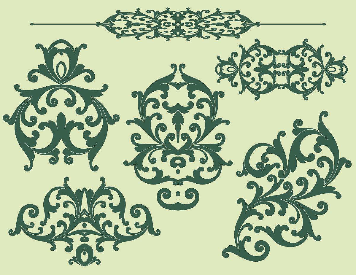 雕刻术,华丽的,缠绕,雕刻图像,古董,矢量,阿拉伯风格,装饰镜板,花体图片