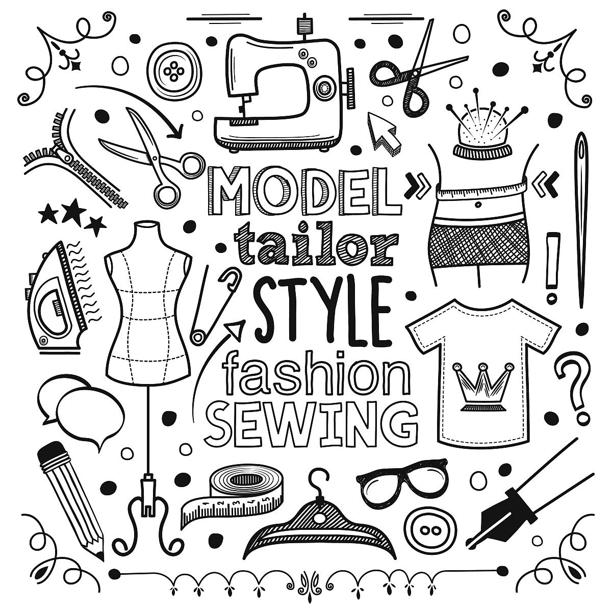 测量,模型,休闲装,符号,t恤,测量工具,黑白图片,眼镜,设计,画画,尺图片