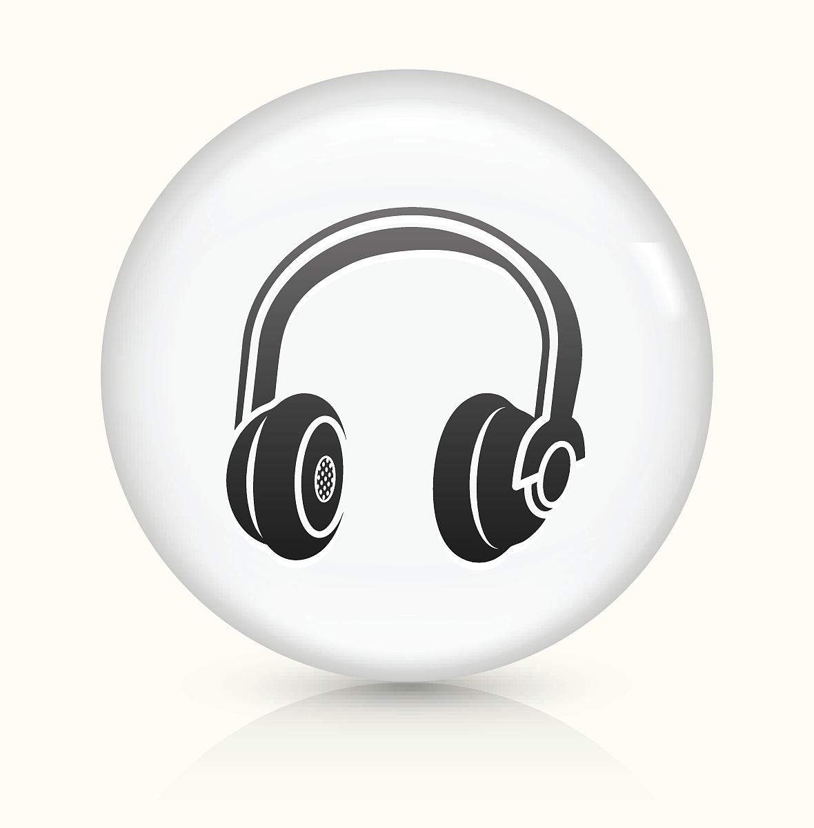听���!�`iyn��+��n���'���_耳机图标白色圆形矢量按钮