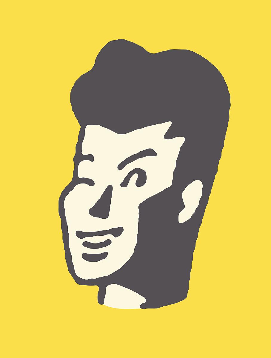 线条画,男人,仅男人,仅一个男人,矢量,青春期,面部表情,仅成年人,图像图片