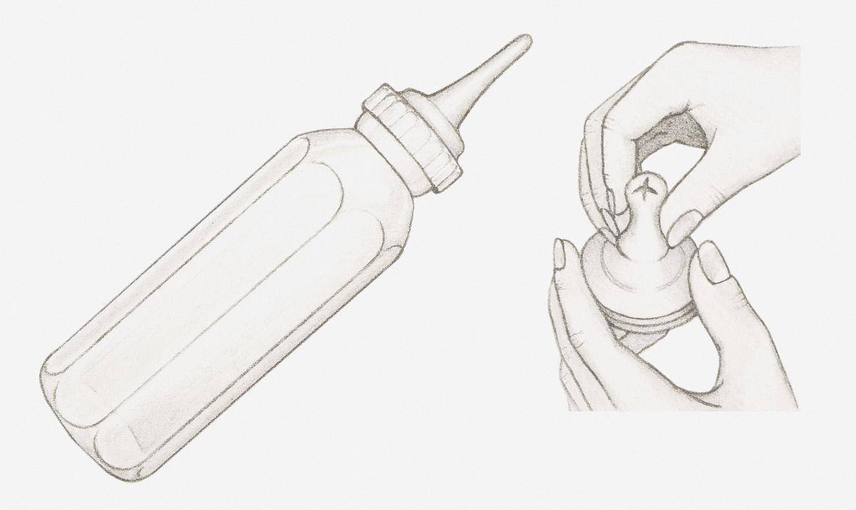 手,拿着,部分,童年,一个人,背景分离,彩色图片,婴儿奶瓶,铅笔画,两个图片