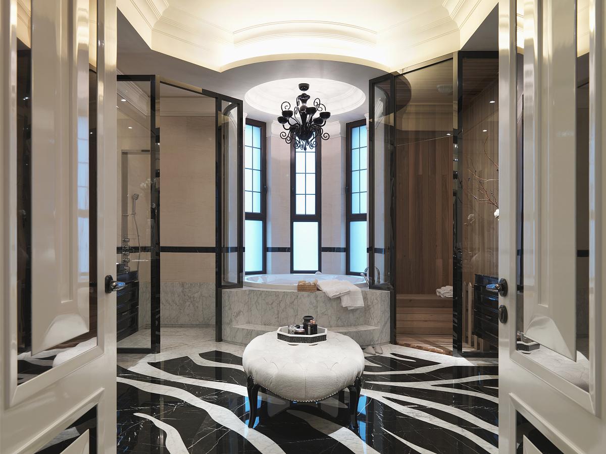 欧式的盥洗室图片