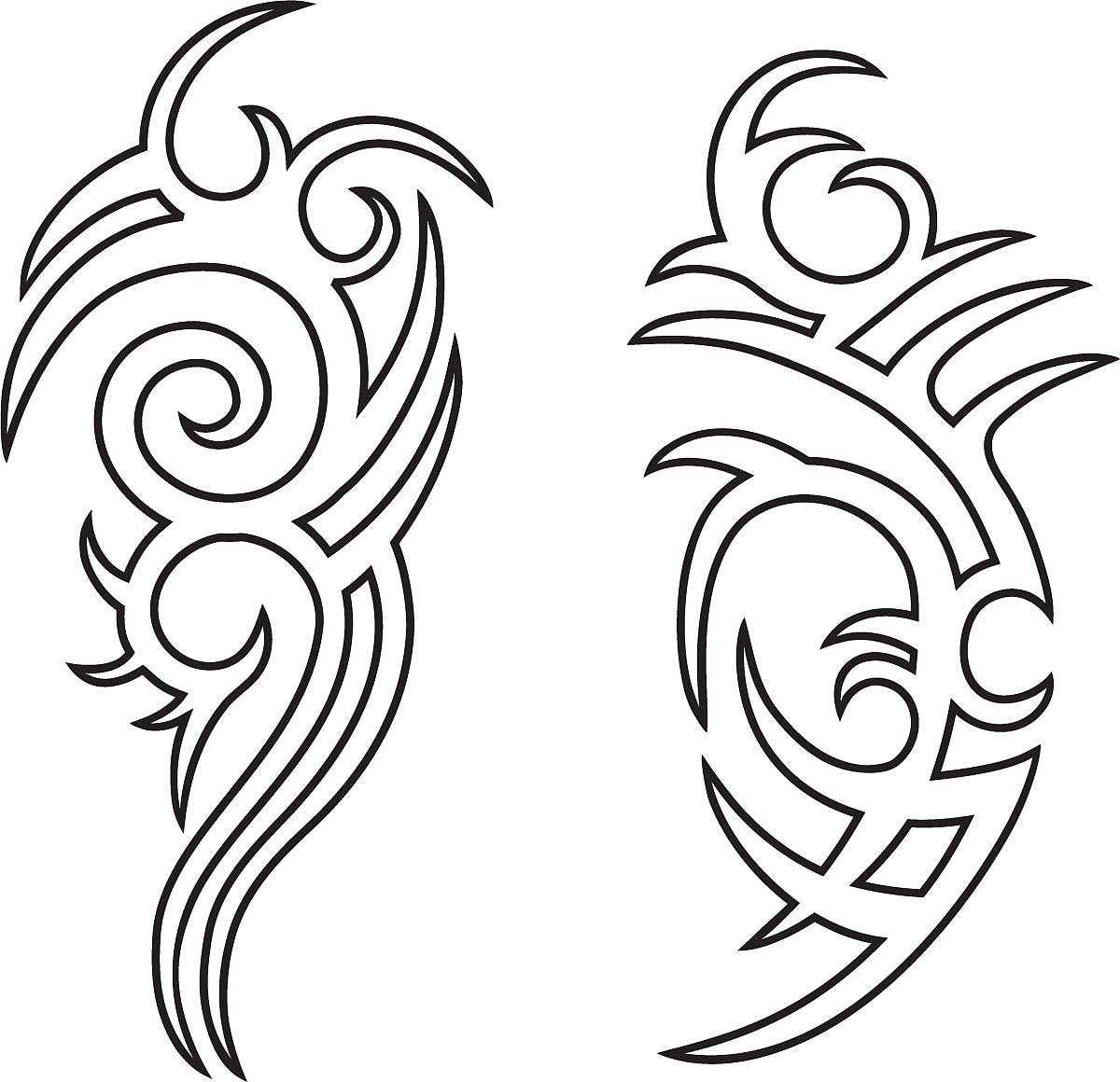 Tribal Tattoo Line Drawing : 后背纹身线条图案大全 女后背纹身图案大全 纹身图案九尾狐后背 纹身图案女 线条龙纹身图案大全