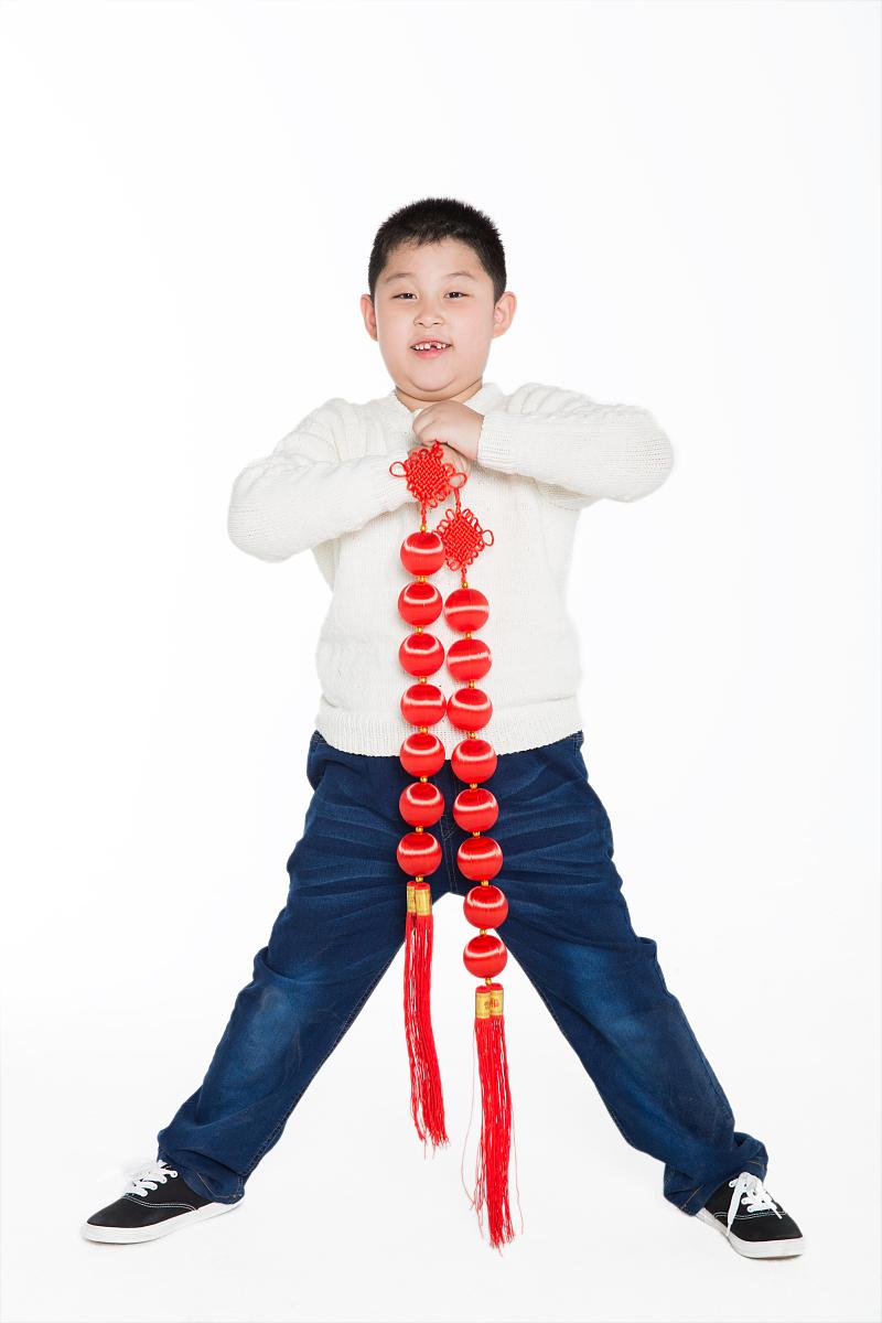 笑,微笑,露齿笑,祝福,春节,拜年,小学生,学龄前,儿童,童年,节日,灯笼图片