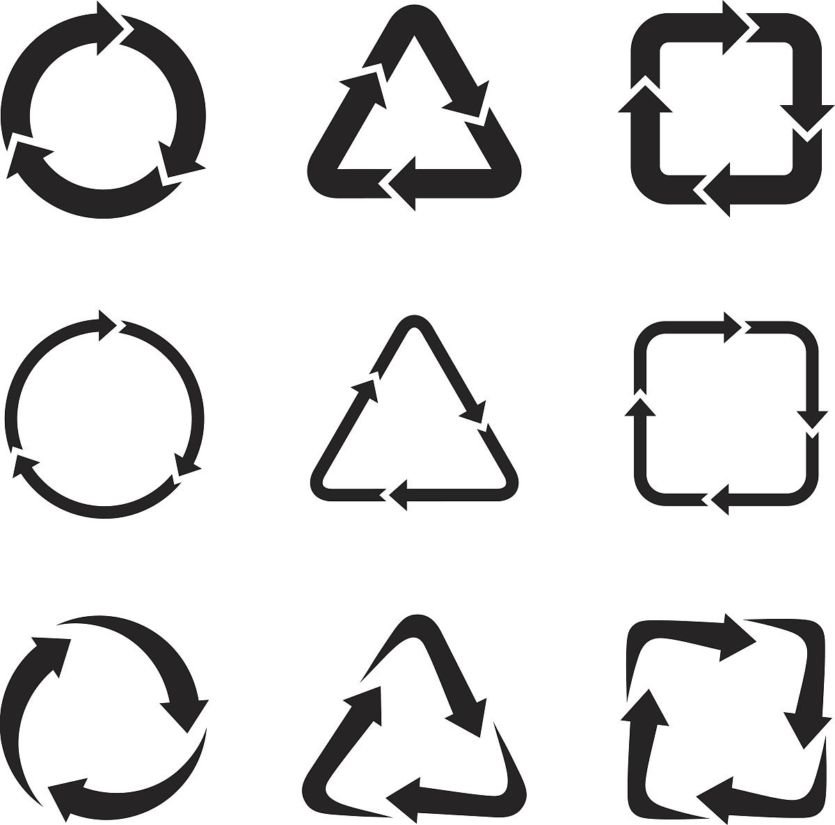 流水,图标,绘画插图,圆形,方向,循环利用,自然,运动模糊,指导,三角形图片