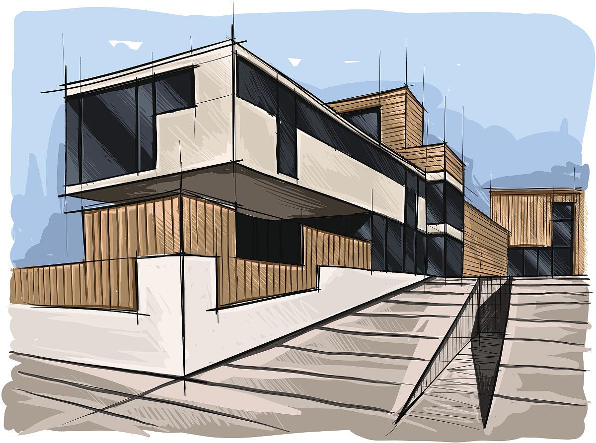 工业,生活方式,户外,天际线,居住区,房屋,设计,绘画艺术品,窗户,屋顶图片