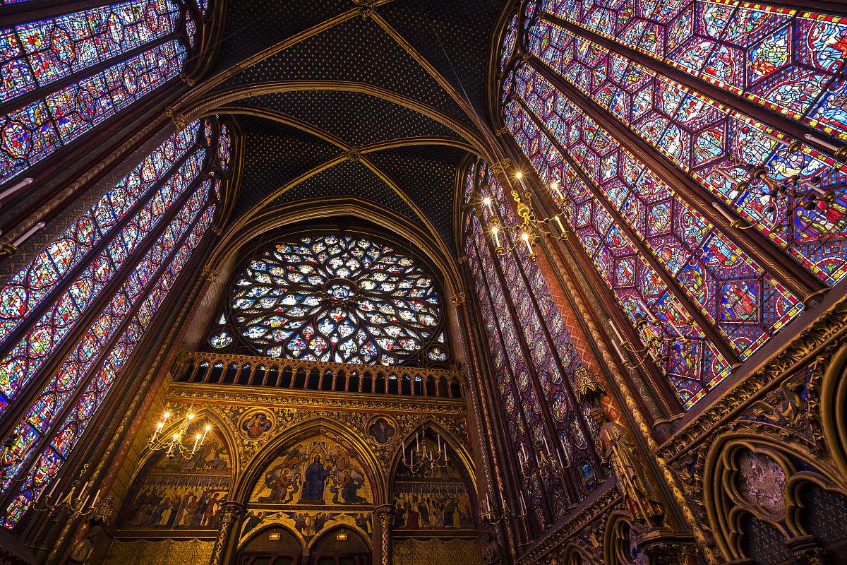 巴黎,欧洲,法国,白色人种,教堂,宗教,建筑,大城市,彩色图片,玻璃图片