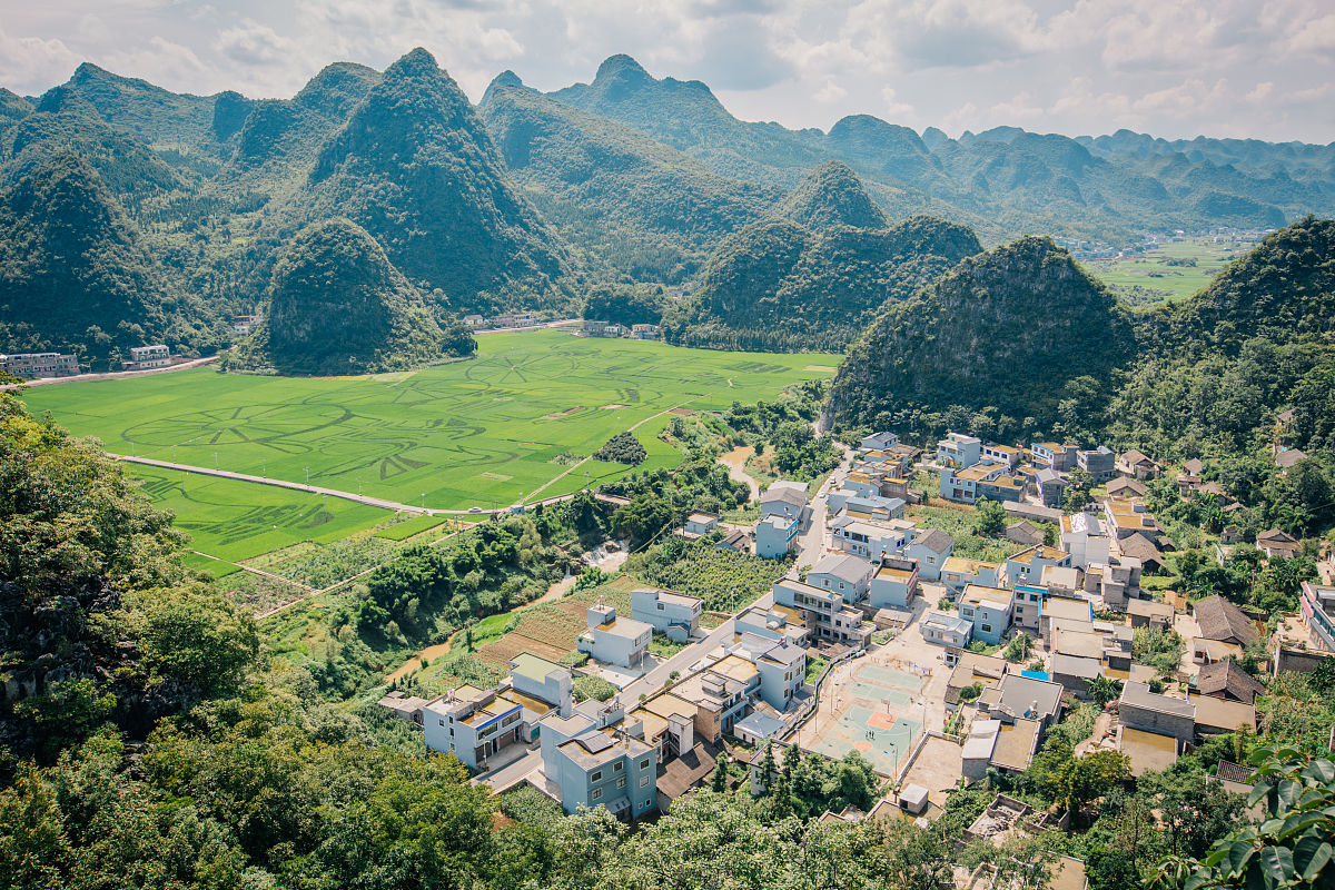 贵州兴义万峰林田园风光图片