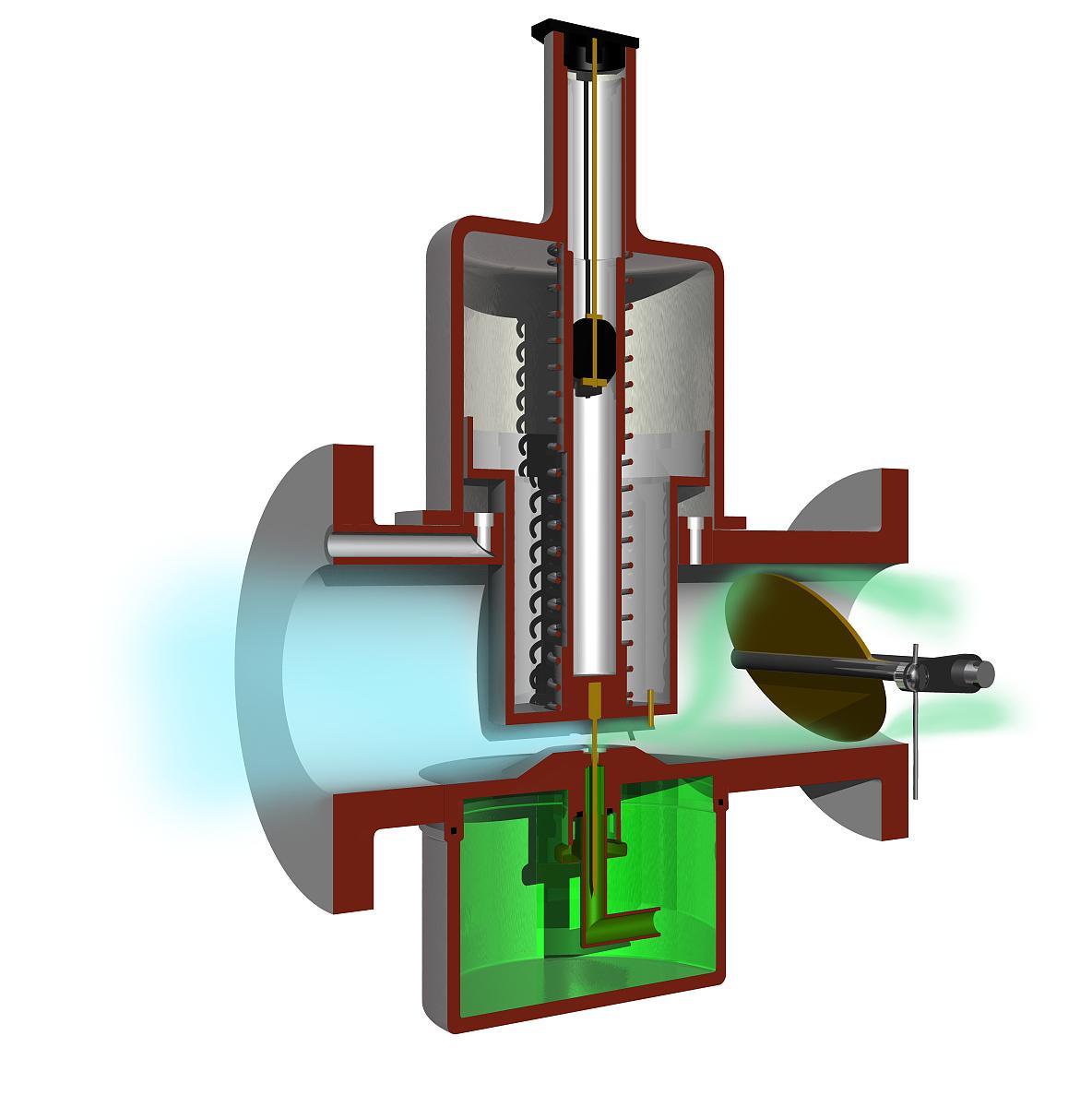 剖面图化油器图片