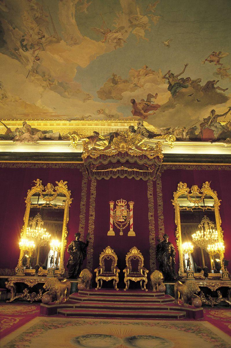 室上的皇家宫殿的皇宫的荆棘房间细节来自马德里马德里.