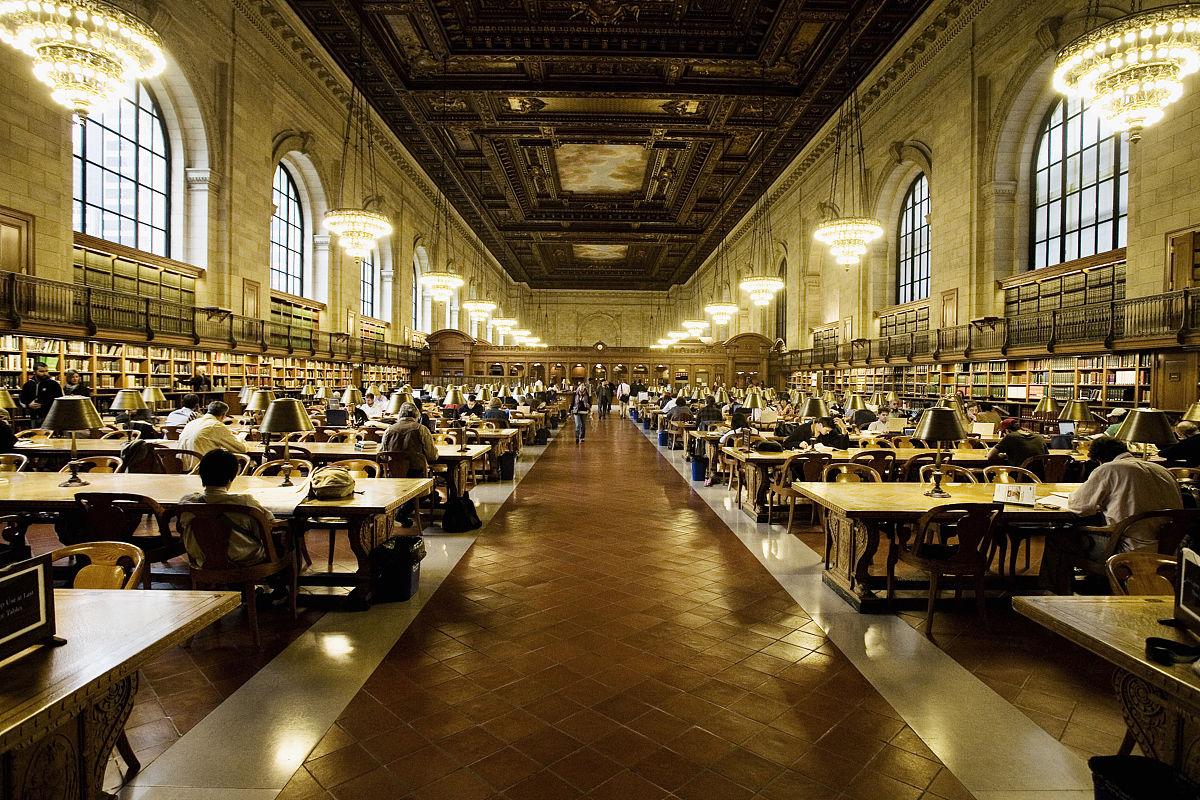 馆_纽约历史上美丽的纽约公共图书馆.美国