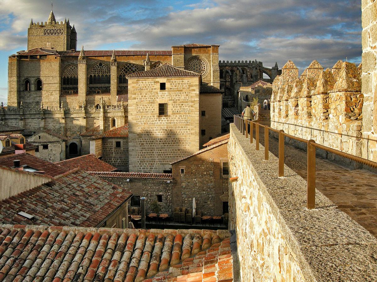 城市,建筑,旅游目的地,水平画幅,户外,中世纪时代,欧洲,西班牙,大教图片