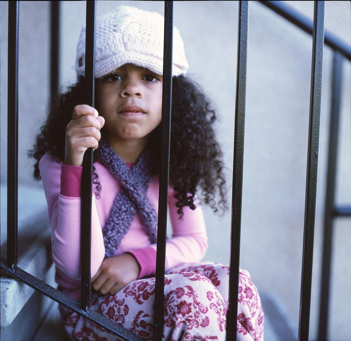 萨克拉门托,彩色图片,仅一个女孩,肖像,摄影,菲律宾人,非洲人,仅儿童图片