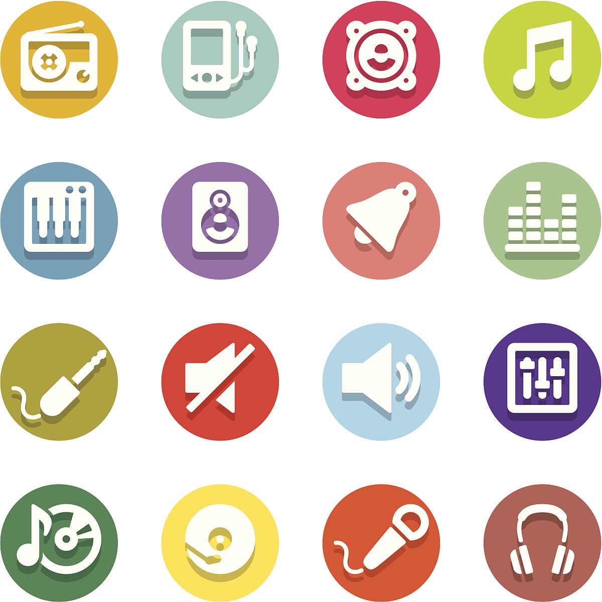 按钮,音频混合器,音乐,关闭,扩音器,控制面板,唱盘,计算机图标,反射图片