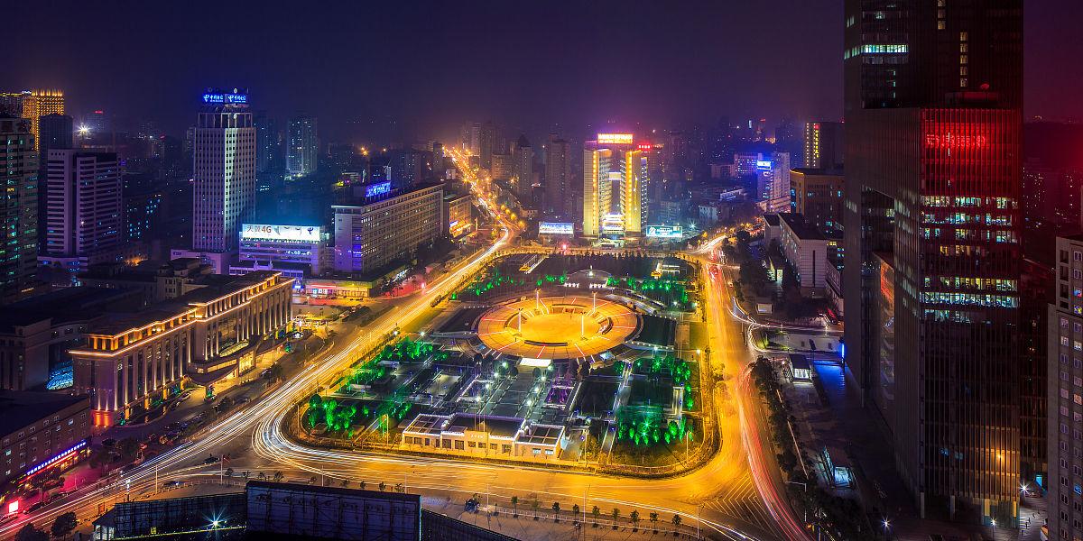 武汉老通哺,a�櫹�.�n��g,9g`_湖北省,武汉,内陆,发展,市区,著名景点,交通,夜晚,繁荣,长时间曝光