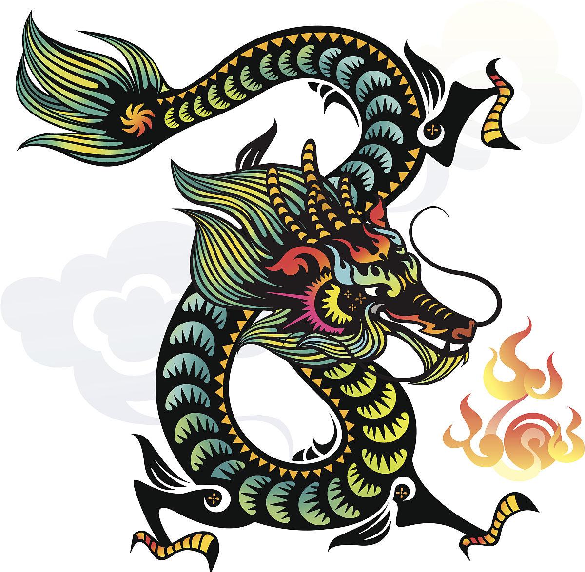 幻想,动物,春节,远古的,中国文化,龙,美术工艺,艺术,手艺,十二宫图图片