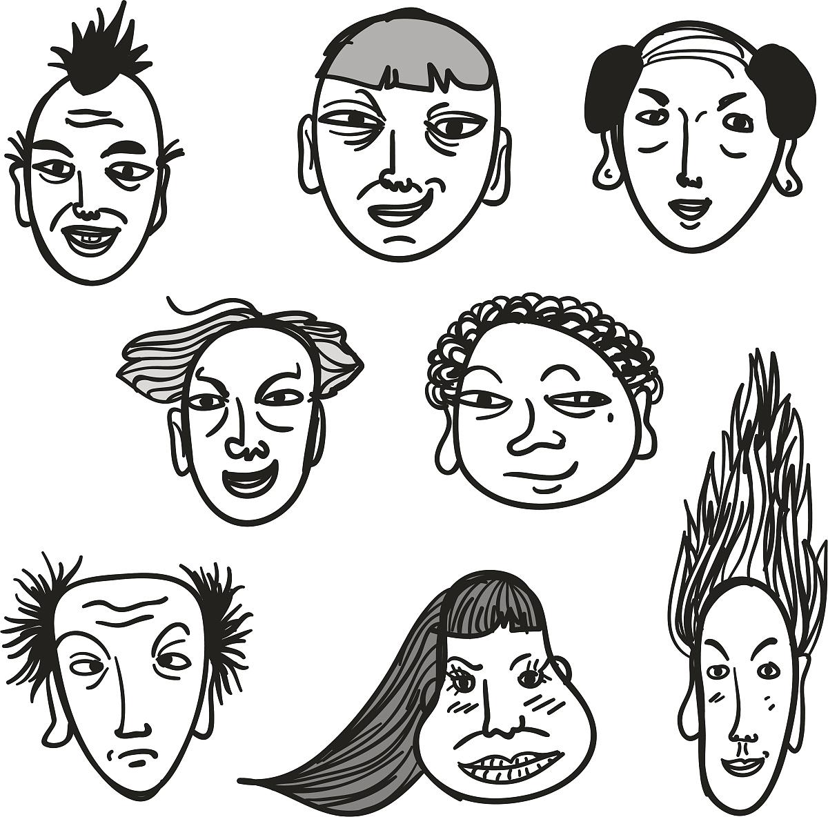 黑白相间的人脸图片