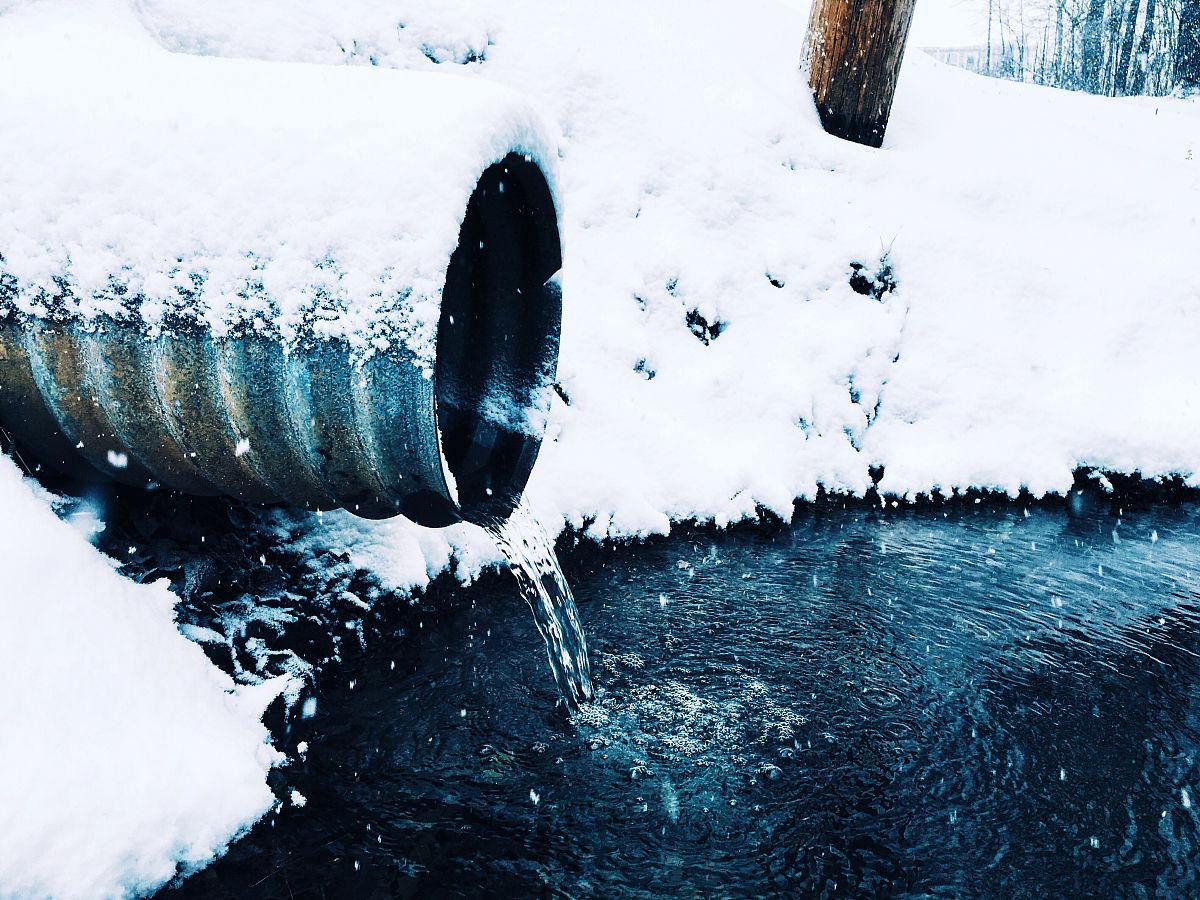 水彩画颜料,季节,行动,冬天,雪,自来水,池塘,饮用水,调味品,无人,流水图片