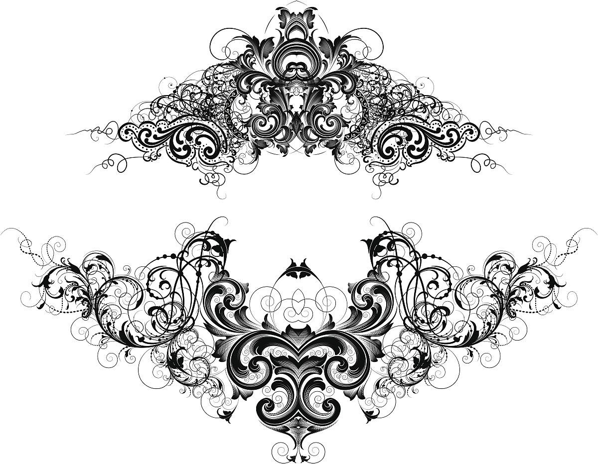 过时的,古董,花纹,无人,矢量,阿拉伯风格,装饰镜板,花形图案装饰,花体图片
