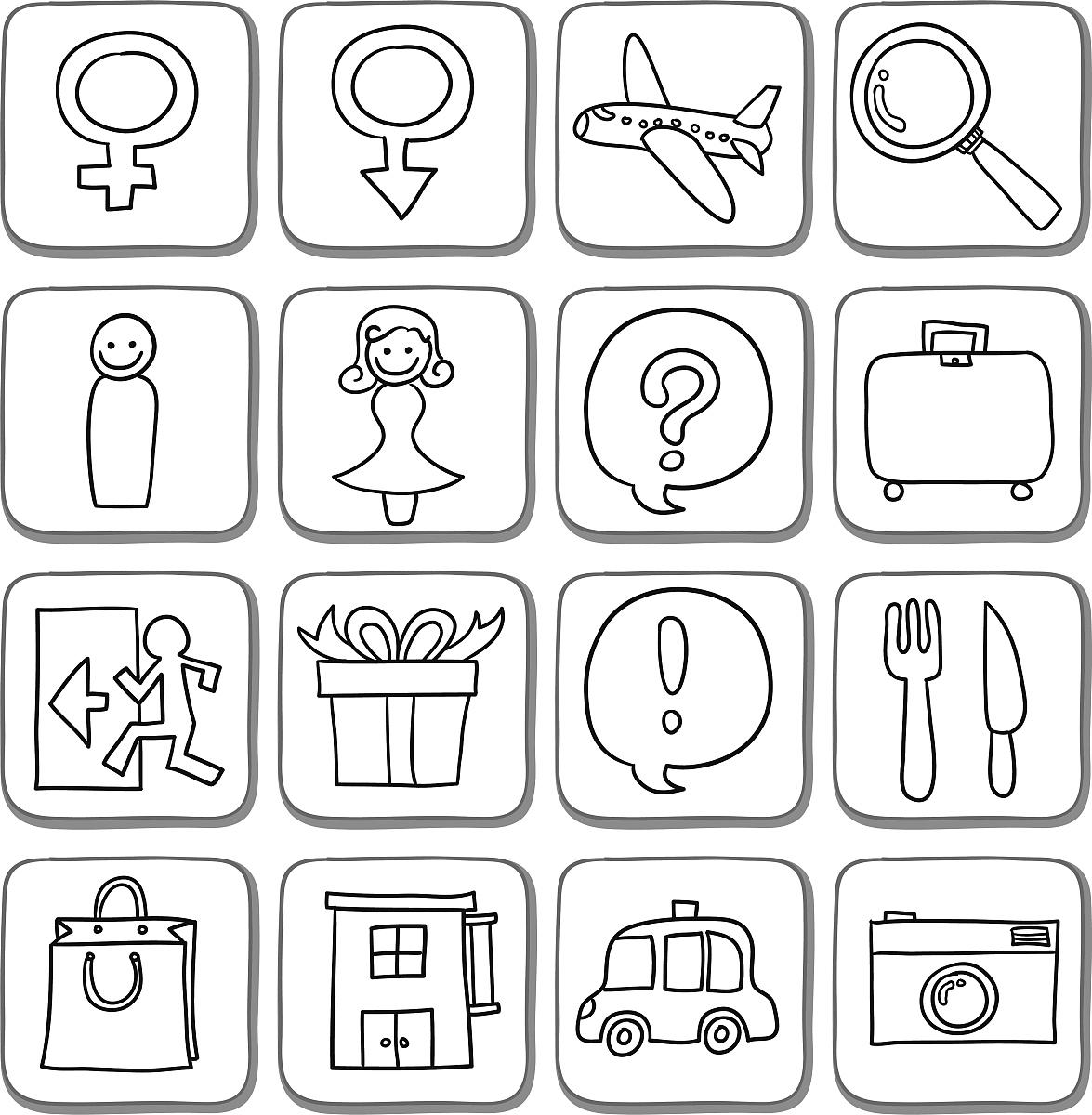 相机,礼物,数据,零售,黑白图片,餐刀,叉,飞机,旅行者,餐馆,酒店,正图片