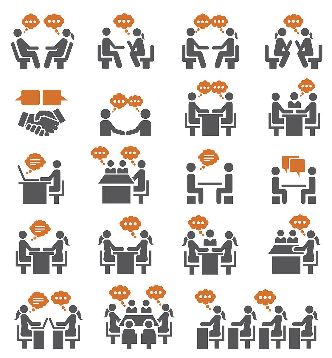 会议的图标集图片