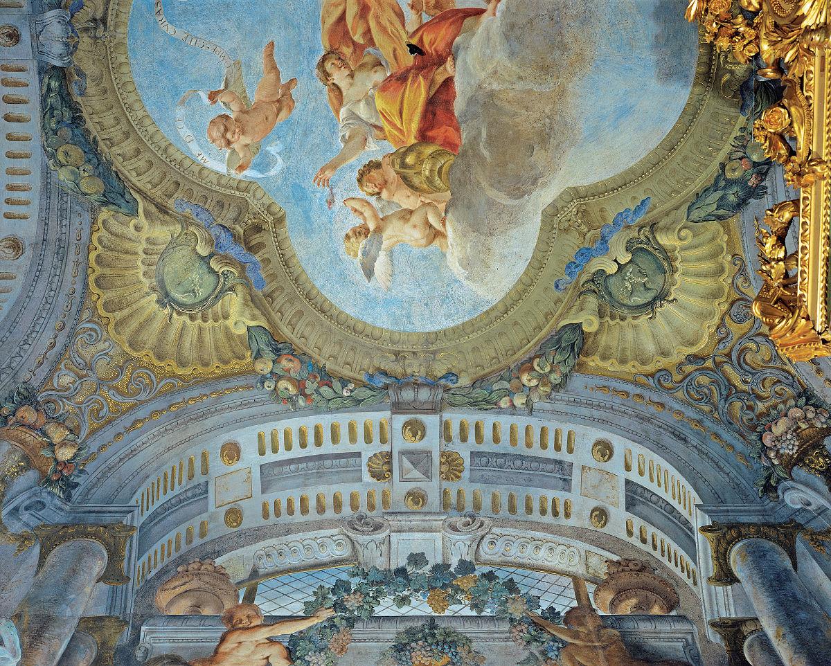 丰富,财富,水平画幅,室内,宫殿,设计,卧室,天花板,新古典派,意大利图片