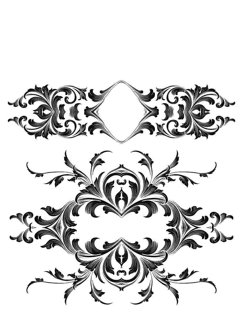 古董,留白,花纹,无人,矢量,阿拉伯风格,装饰镜板,花形图案装饰,花体图片