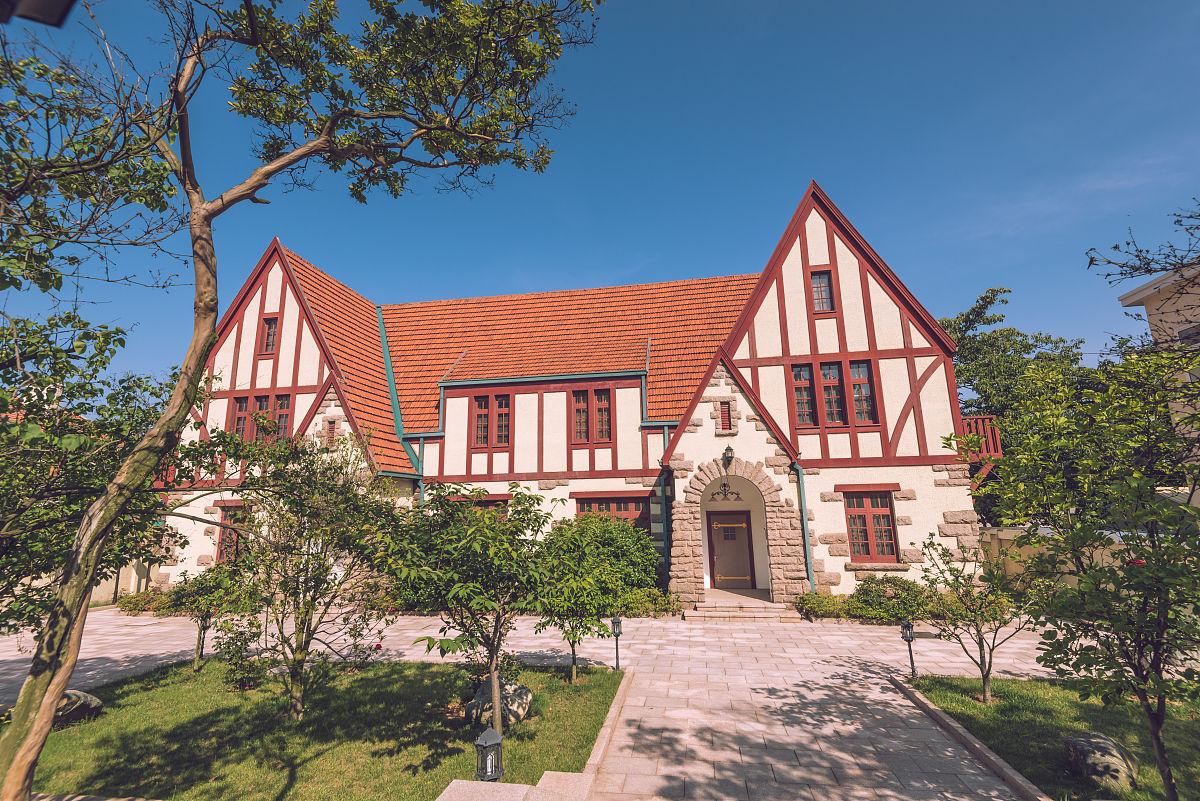 青岛八大关的欧式建筑图片