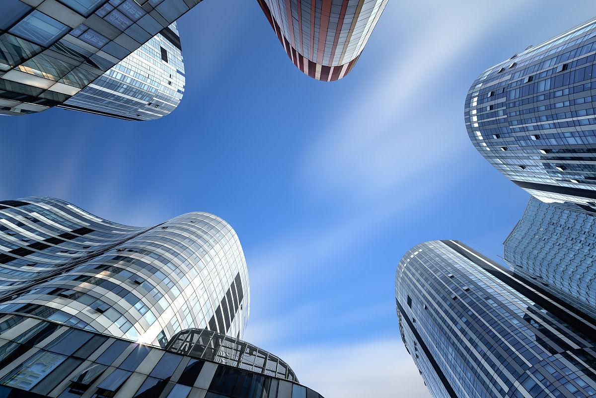 北京cbd,三里屯soho,建筑,天空,白昼,多云,长时间曝光,办公大楼,著名图片